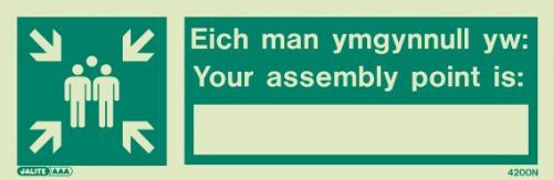 (4200NR)  Jalite Welsh / English - Your assembly point is / Eich man ymgynnull yw